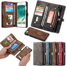 Multi-lommebok 11-kort Apple iPhone 7/8 mobil lommebok glidelås myntveske