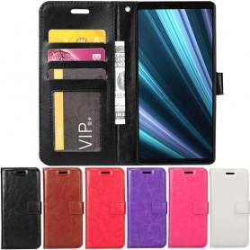 Mobil lommebok 3-kort Sony Xperia 1 mobiltelefon veske caseonline